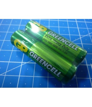 1,5v Батарейка Сольова  AA/R06  GP GREENCELL  тех. ст2